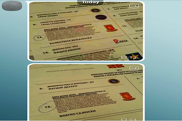 Secrecy of voting violated