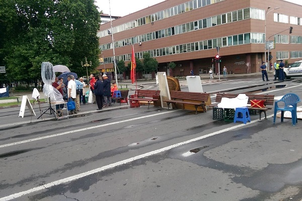 Low turnout at the protests in Skopje and Athens
