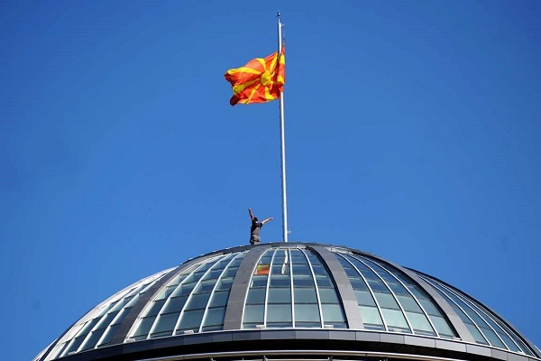 It's about Macedonia, not the parties